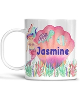 Kids Mermaids Cup Personalized Name, Microwave Safe Dishwasher Safe Child's Unbreakable Cup BPA Free