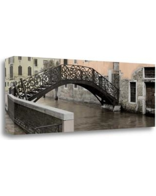 "Tangletown Fine Art 'Venetian Bridge Pano - 1' Photographic Print on Wrapped Canvas ICABITH73A-3412c Size: 12"" H x 34"" W"