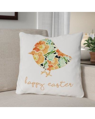 """The Holiday Aisle Floral Chick Throw Pillow THLA1408 Size: 18"""" H x 18"""" W x 3"""" D"""
