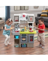 "Step2 kids Contemporary Chef Kitchen, Plastic in Gray/Green/White, Size 11.5"" L x 30.5"" W x 41.25"" H 