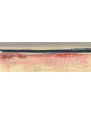 """George Oliver 'Paynes Horizon IV' Acrylic Painting Print on Wrapped Canvas BF132978 Size: 10"""" H x 30"""" W x 1.5"""" D"""
