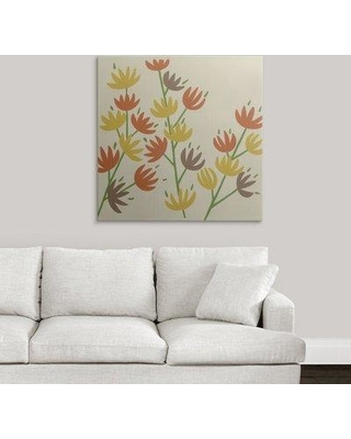 "Great Big Canvas 'Retro Blossoms III' Chariklia Zarris Graphic Art Print 2211914_1 Size: 35"" H x 35"" W x 1.5"" D Format: Canvas"
