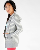Tea Collection Striped Long Length Knit Hoodie