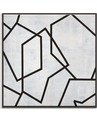 """George Oliver 'Geometric 5' Painting Print on Canvas GOLV4626 Size: 24"""" H x 24"""" W x 2"""" D Format: Floater Frame"""