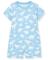 Hatley Baby Boys' Romper, Dino Silhouettes, 3-6 Months