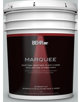 BEHR MARQUEE 5 gal. #PPU26-18 Silver Mine Matte Exterior Paint and Primer in One