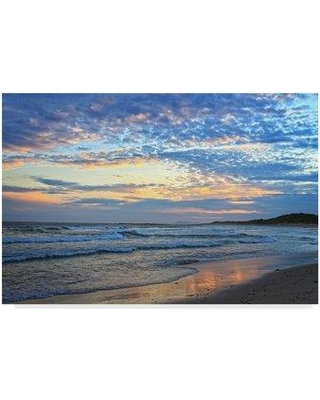 """Ebern Designs 'Early Sunset' Photographic Print on Wrapped Canvas EBRN1157 Size: 12"""" H x 19"""" W x 2"""" D"""