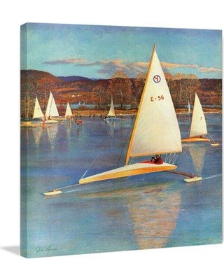 "Marmont Hill 'Racing Boats' Painting Print on Wrapped Canvas MH-CSTLCT-63-C Size: 24"" H x 24"" W x 1.5"" D"