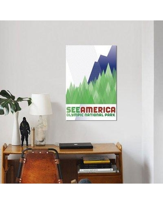 """East Urban Home 'Olympic National Park by Luis Prado' Graphic Art Print on Canvas UBAH4643 Size: 26"""" H x 18"""" W x 1.5"""" D"""