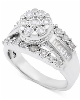 Diamond Dome Cluster Promise Ring (1/2 ct. t.w.) in Sterling Silver - Sterling Silver