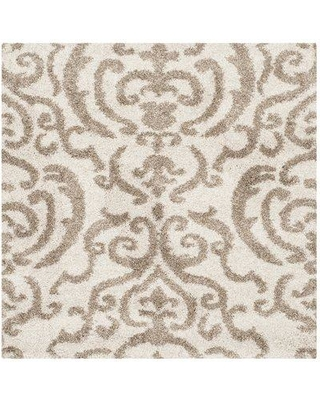 Charlton Home Hall Brown/Beige Area Rug Rug Size: Square 4'