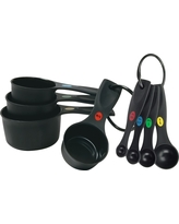 Oxo Measuring Cups and Spoons Set, Black