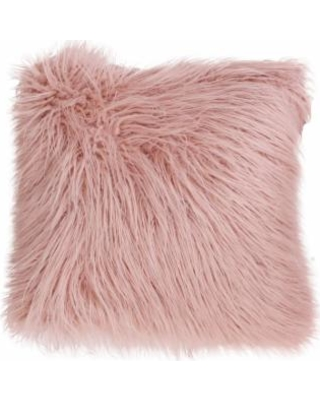 Thro by Marlo Lorenz Keller Faux Fur Mongolian Throw Pillow, Pink, 20X20