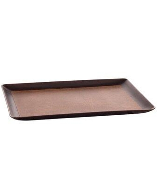 """Erwyn Laminated Serving Tray (Set of 24) 1304 Size: 0.68"""" H x 13"""" W x 11"""" D Color: Brown/Chocolate"""