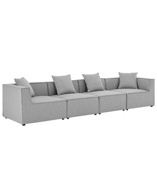 """Bonney 138"""" Wide Outdoor Symmetrical Patio Sectional with Cushions"""