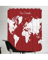 East Urban Home Our Travels Shower Curtain EUNH6777 Color: Steel