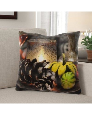 The Holiday Aisle Geter Pumpkin Indoor/Outdoor Throw Pillow W000776930