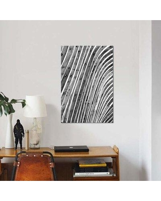 """East Urban Home 'Wood Waves' Graphic Art Print on Canvas EBHT2033 Size: 12"""" H x 8"""" W x 0.75"""" D"""