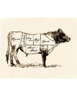 PTM Butcher Cuts Graphic Art on Wrapped Canvas 9-3333A