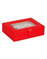 Ebern Designs Cole Fashion and Ring Jewelry Box X113092155 Finish: Red