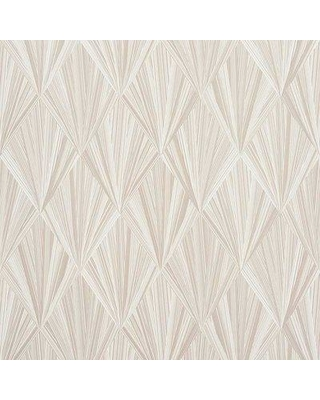 """Schumacher Marquetry 13.5' L x 27"""" W Wallpaper Roll (Set of 2) 500863 Color: Stone"""