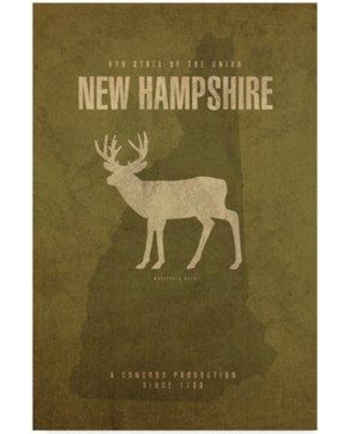 """Wrought Studio 'State Animal New Hampshire' Graphic Art Print on Wrapped Canvas WRSD2217 Size: 19"""" H x 12"""" W x 2"""" D"""