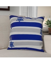 """The Holiday Aisle Hanukkah 2016 Decorative Holiday Striped Outdoor Throw Pillow HLDY6580 Color: Royal Blue, Size: 18"""" H x 18"""" W x 2"""" D"""