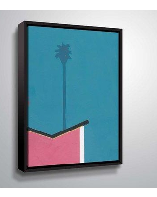 """Bay Isle Home 'Modern Palm III' Graphic Art Print on Wrapped Canvas BF044327 Size: 8"""" H x 10"""" W x 2"""" D Format: Floater Frame"""