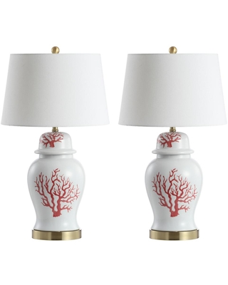 Safavieh Emory 30.5 in. Red/White Table Lamp
