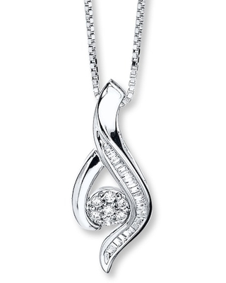 Diamond Necklace 1/5 carat tw Sterling Silver
