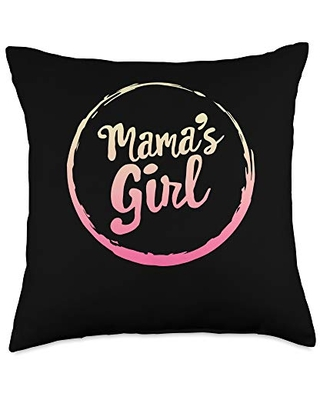 Mothers Day Tees by JuinToJuly Co. Mama's Girl Mommy And Me Matching Daughter Mother's Day Mom Throw Pillow, 18x18, Multicolor