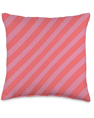 Cherry Tomato Color Print Gifts Cherry Tomato Rapture Rose Color Stripes Throw Pillow, 16x16, Multicolor