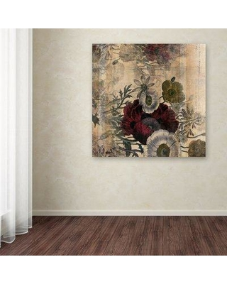 54 Off Winston Porter Floral Collage Burgundy Bloom Graphic Art Print On Wrapped Canvas Xoqs7585 Size 18 H X 18 W
