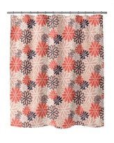 BEATNIK FLORAL RED Shower Curtain by Kavka Designs (71X74)