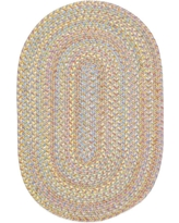 Play Date Sand Beige Multi 3 ft. x 5 ft. Oval Indoor/Outdoor Braided Area Rug