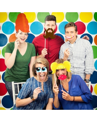 Funny Faces Photo Booth Kit, Multi-Colored