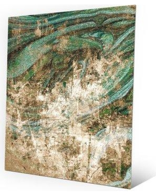 """Click Wall Art 'Sage Maelstrom' Graphic Art on Plaque ABS0000619MTL Size: 14"""" H x 11"""" W x 1"""" D"""