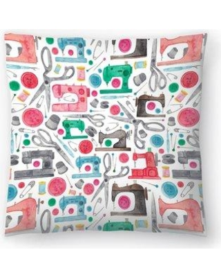 "East Urban Home Elena O'Neill Sewing Pattern Throw Pillow EUHG3386 Size: 20"" x 20"""