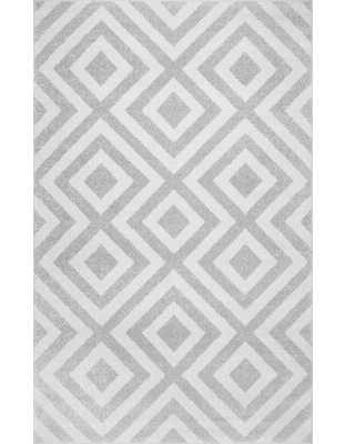 Get This Deal On Frances Geometric Gray White Area Rug Hashtag Home Rug Size Runner 2 W X 6 L