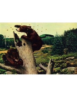 """Marmont Hill 'Honey Bears' Painting Print on Wrapped Canvas MH-LDGCU-100-C- Size: 16"""" H x 24"""" W x 1.5"""" D"""