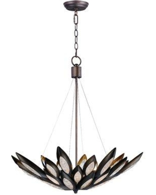 Discover Deals On World Menagerie Pylant 8 Light Unique Statement Bowl Pendant Glass In Bronze Size Oversized 30 Wide Or Larger Wayfair