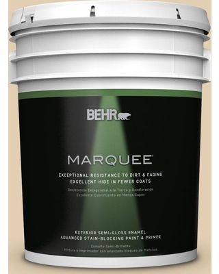 BEHR MARQUEE 5 gal. Home Decorators Collection #HDC-AC-09 Concord Buff Semi-Gloss Enamel Exterior Paint & Primer