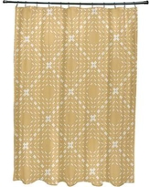 Wrought Studio Shirley Dots and Dashes Shower Curtain VKGL5812 Color: Yellow