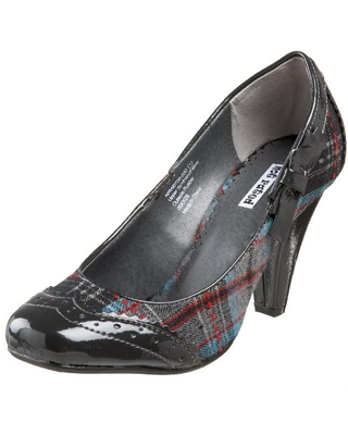 Not Rated Women's Addict Plaid Pump,Grey,6.5 M US