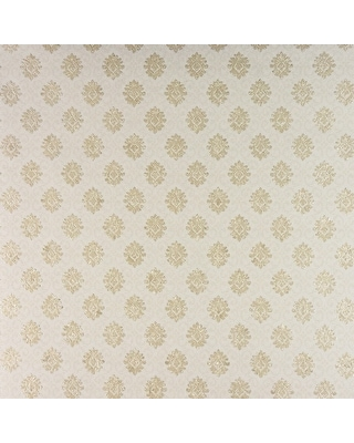 Bella, Small Damask Wallpaper, 21 in x 33 ft = About 57.8 square feet (Cream)