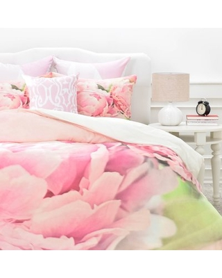 Peonies Duvet Cover Set East Urban Home Size: King