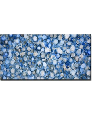 """Ebern Designs 'Arctic River Stones' Painting Print on Wrapped Canvas EBRD1509 Size: 20"""" H x 40"""" W x 1.5"""" D"""