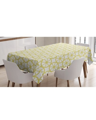 """Wheels Tablecloth East Urban Home Size: 84"""" x 60"""""""