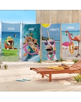 Personalized Animal With An Attitude Beach Towel-Available in 5 Designs