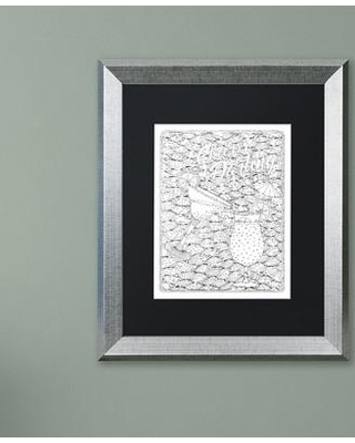 """Trademark Fine Art 'Inspirational Quotes' Framed Graphic Art on Canvas ALI3018-S1114BMF / ALI3018-S1620BMF Size: 20"""" H x 16"""" W x 0.5"""" D Matte Color: White"""
